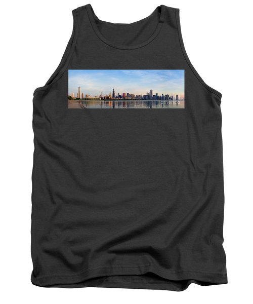 The Skyline Of Chicago At Sunrise Tank Top