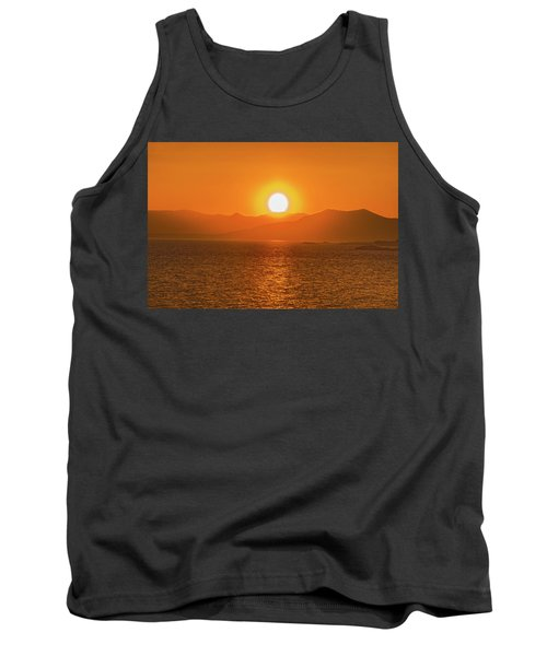 The Smoke From A Forest Fire Gave Us This Tangerine Sky Over 11-mile Reservoir State Park, Colorado. Tank Top