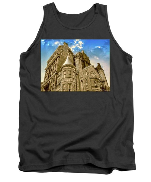 Tank Top featuring the photograph The Stafford Hotel by Brian Wallace