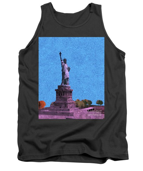 The Statue Of Liberty Island Tank Top