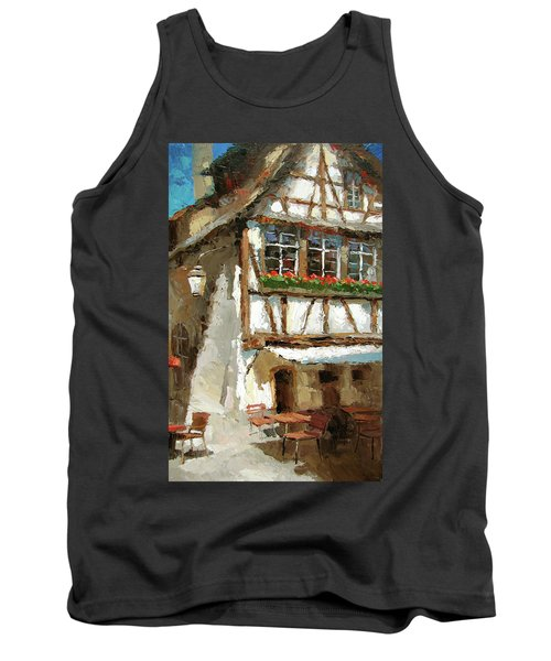 Tank Top featuring the painting The Streets Of Strasbourg by Dmitry Spiros