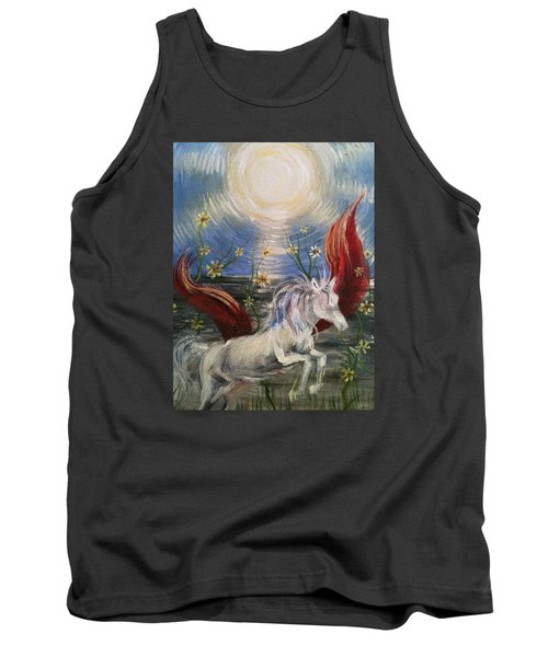 Tank Top featuring the painting the Sun by Karen  Ferrand Carroll