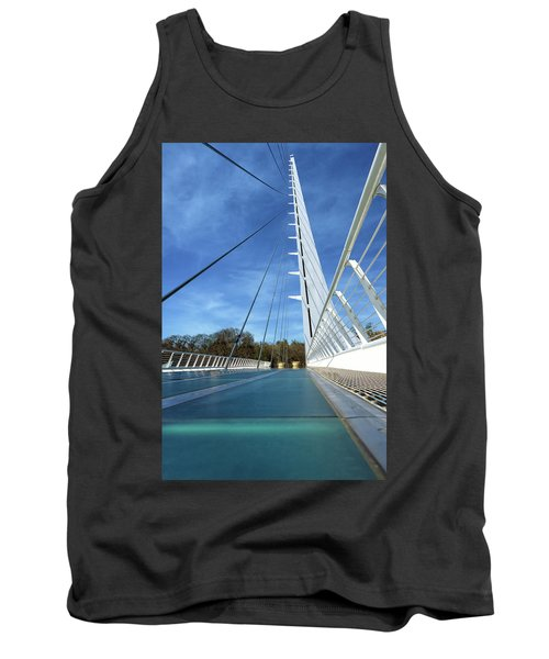 Tank Top featuring the photograph The Sundial Bridge by James Eddy