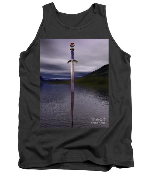 The Sword Excalibur On The Lake Tank Top