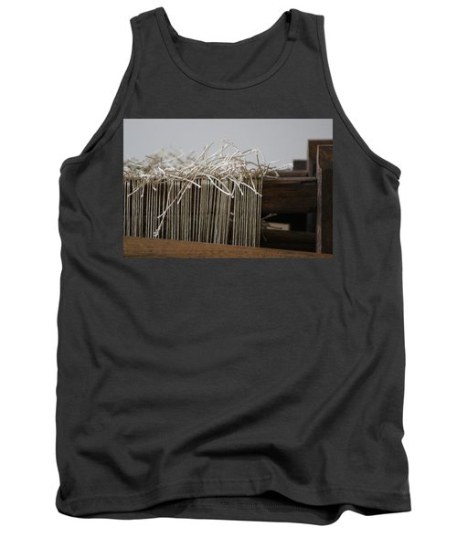The Tales We Weave In Sepia Photograph Tank Top