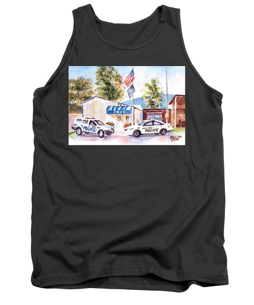 The Thin Blue Line Tank Top by Kip DeVore