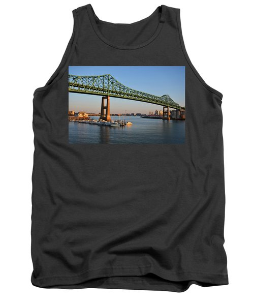 The Tobin Bridge Into The Sunset Chelsea Yacht Club Tank Top