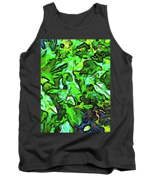 The Tropical Green Leaves With The Wings Tank Top