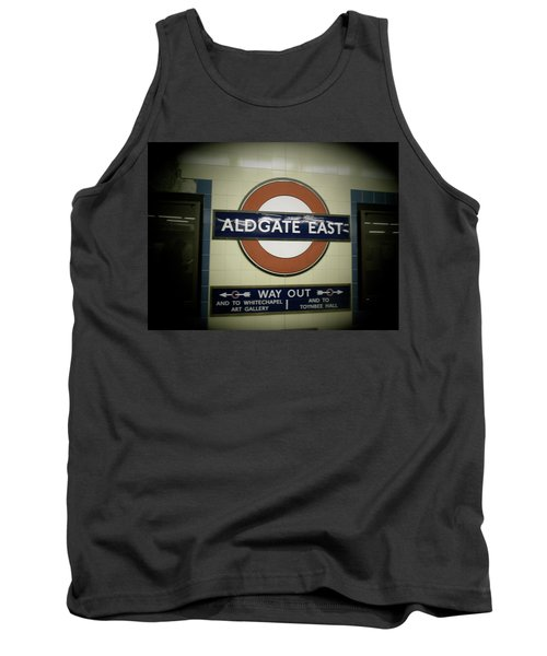 Tank Top featuring the photograph The Tube Aldgate East by Christin Brodie