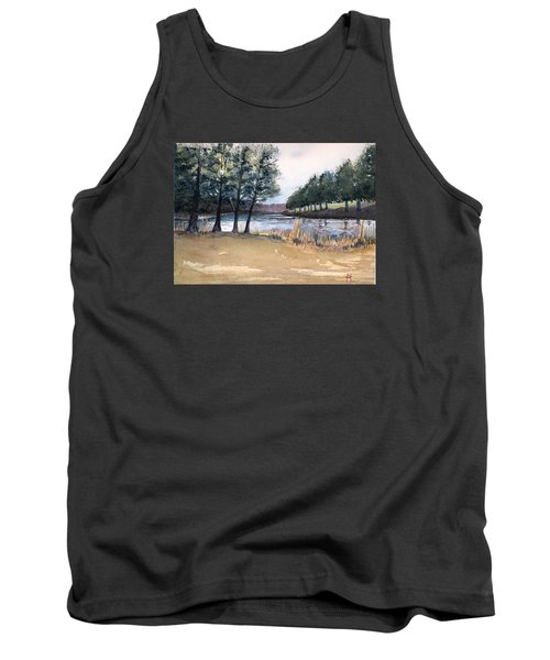 Tank Top featuring the painting The View From Switchboard by Katherine Miller