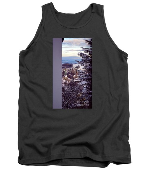 Tank Top featuring the photograph The Village - Winter In Switzerland by Susanne Van Hulst