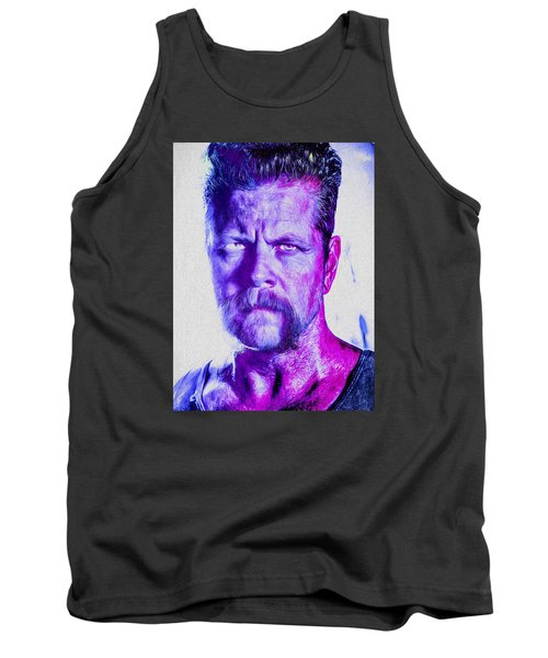 The Walking Dead Michael Cudlitz Sgt. Abraham Ford Painted Tank Top by David Haskett