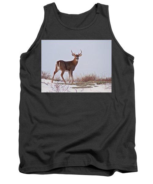 The Watchful Deer Tank Top by Nancy De Flon