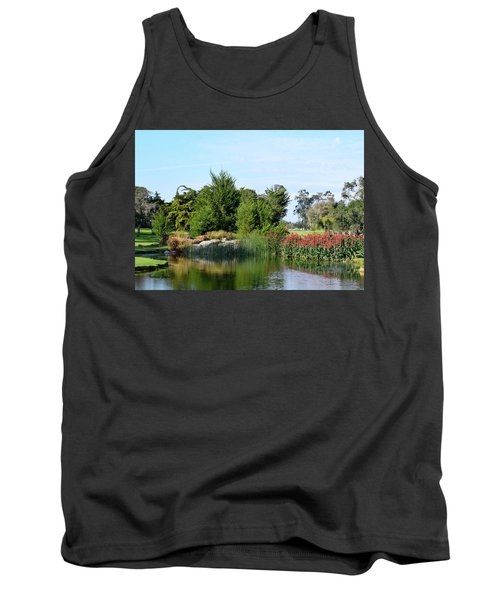 Tank Top featuring the photograph The Water On Number One Santa Maria Country Club by Barbara Snyder