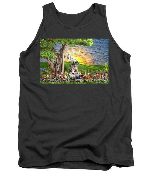 The Weary Warrior  Tank Top by Dolores Develde