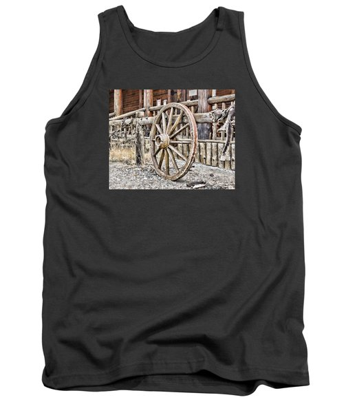 Tank Top featuring the photograph The Wheel Rolls On by B Wayne Mullins