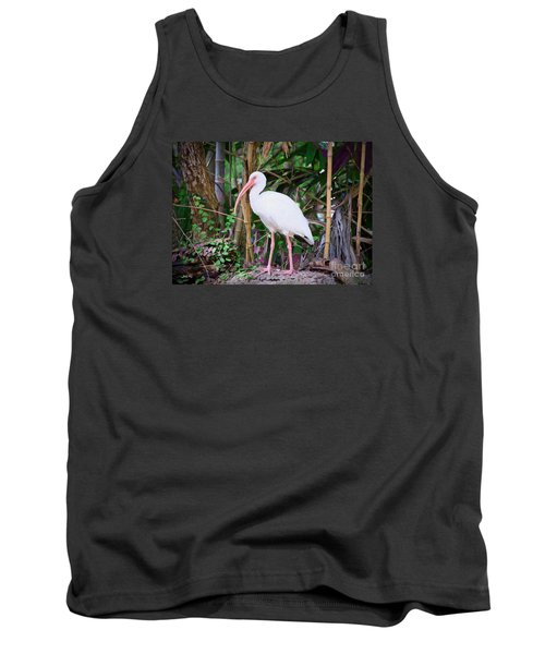 Tank Top featuring the painting The White Ibis by Judy Kay