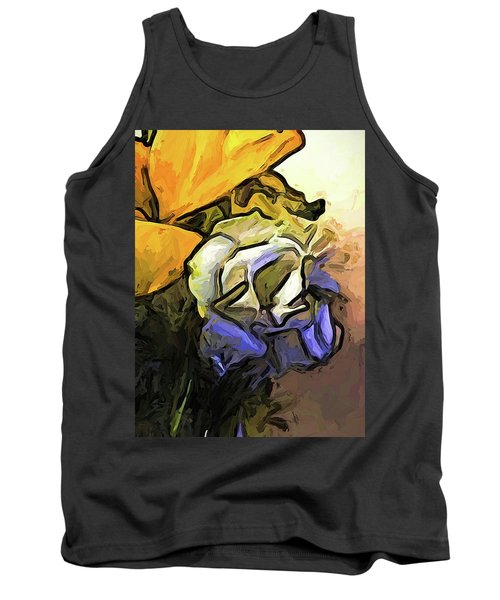 The White Rose And The Yellow Petals Tank Top