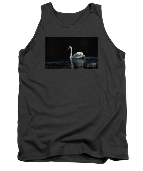 The White Swan Tank Top by David  Hollingworth