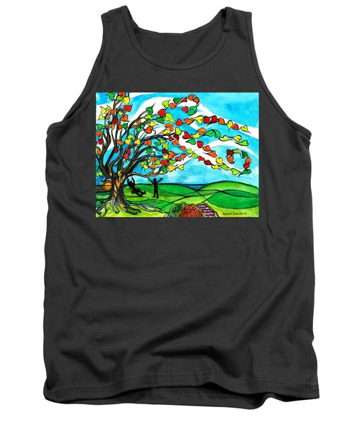 The Windy Tree Tank Top by Genevieve Esson