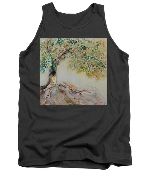 Tank Top featuring the painting The Wisdom Tree by Joanne Smoley
