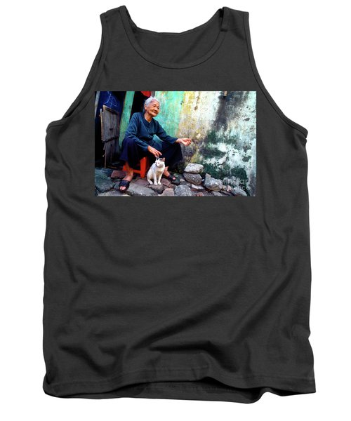 The Woman And The Cat Tank Top