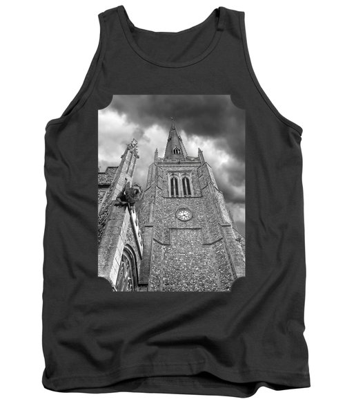 The Wrath Of God - Thaxted Church In Black And White Tank Top