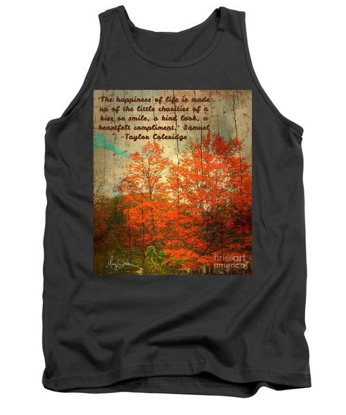 The Happiness Of Life By Taylor Coleridge Tank Top