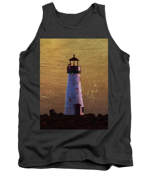 Tank Top featuring the photograph There Is A Lighthouse by B Wayne Mullins