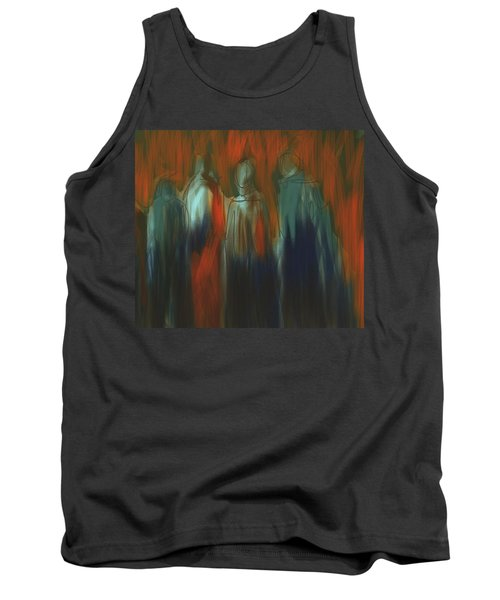 Tank Top featuring the painting There Were Four by Jim Vance