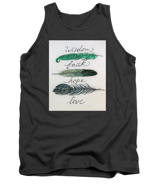 Tank Top featuring the painting These Feathers by Elizabeth Robinette Tyndall