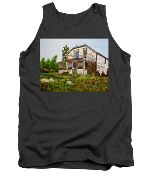 Tank Top featuring the painting This Old House by Marilyn  McNish