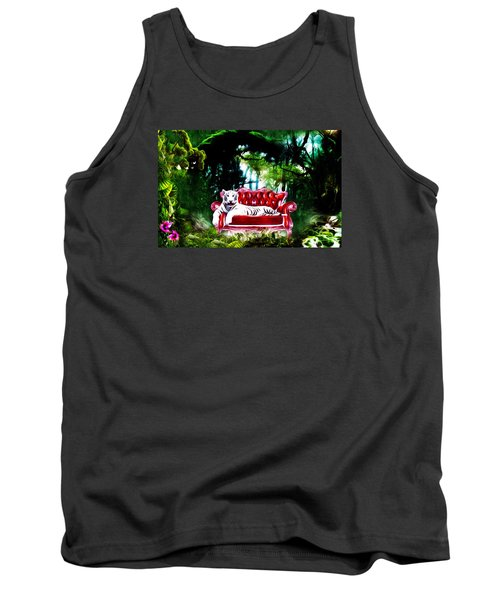 Tank Top featuring the mixed media This Place Is Reserved For The Boss by Gabriella Weninger - David