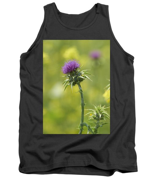 Thistle And Mustard Tank Top by Doug Herr