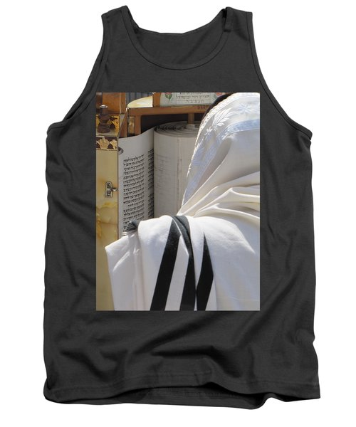 Tank Top featuring the photograph Thora Reading At The Western Wall by Yoel Koskas