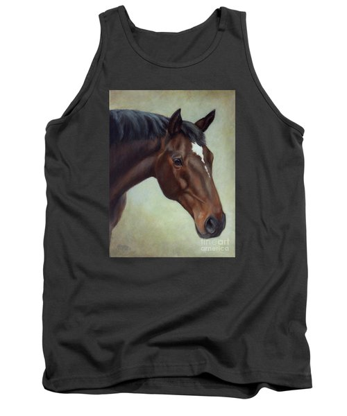 Thoroughbred Horse, Brown Bay Head Portrait Tank Top