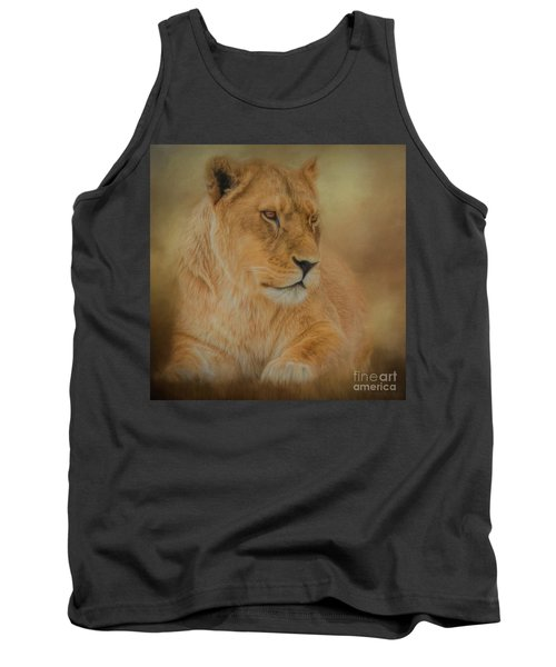 Thoughtful Lioness - Square Tank Top