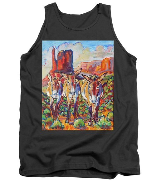 Tank Top featuring the painting Three Amigos  by Jenn Cunningham