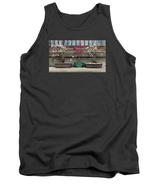 Three Bonsais Tank Top by Alan Toepfer