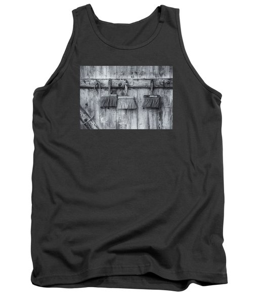 Tank Top featuring the photograph Three Brushes Black And White by Tom Singleton