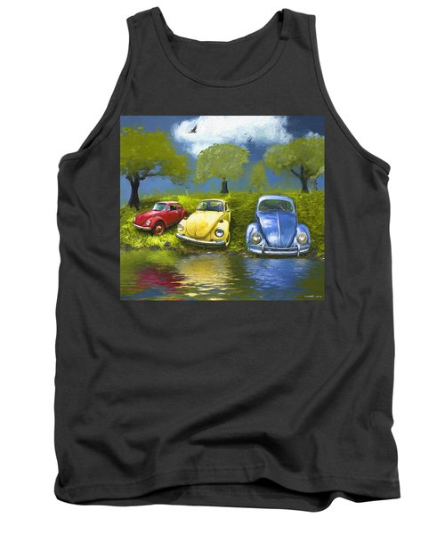Three Bugs On A Hill Tank Top
