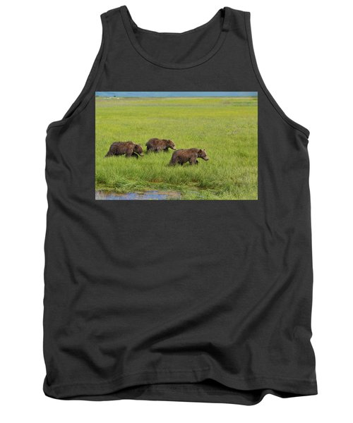Three Cubs Moving On Tank Top