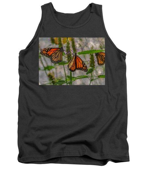 Three Monarch Butterfly Tank Top