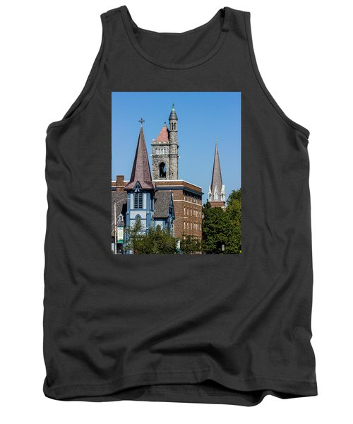Three Steeples Of St Johnsbury Vermont Tank Top by Tim Kirchoff