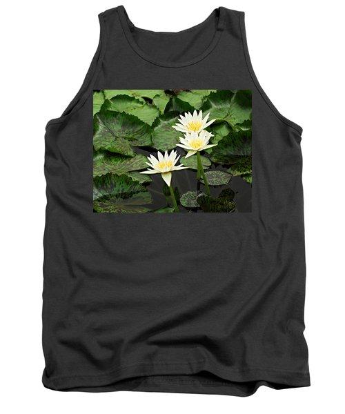 Three Water Lilies Tank Top