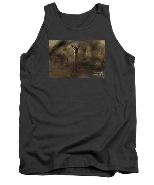 Tank Top featuring the photograph Through The Hedge Row  by Gary Bridger