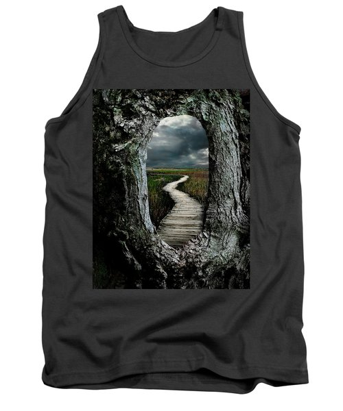 Through The Knot Hole Tank Top by Rick Mosher