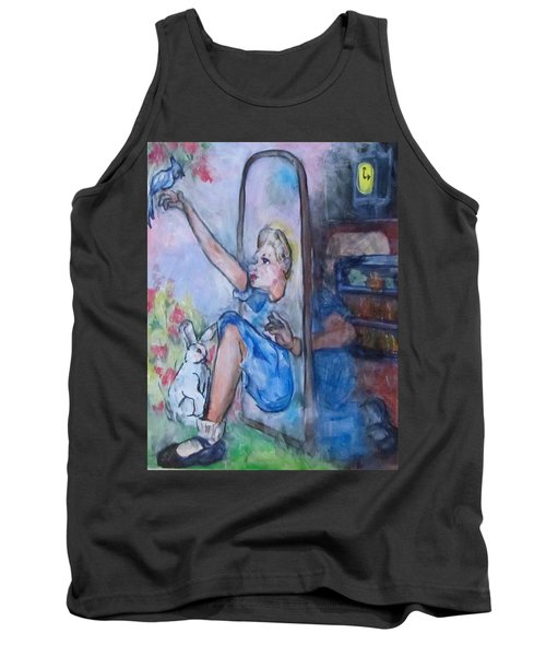 Through The Looking Glass Tank Top by Barbara O'Toole