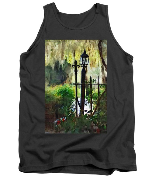 Tank Top featuring the digital art Thru The Gate by Donna Bentley
