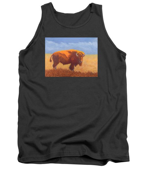Tank Top featuring the painting Thunder On The Prairie by Nancy Jolley